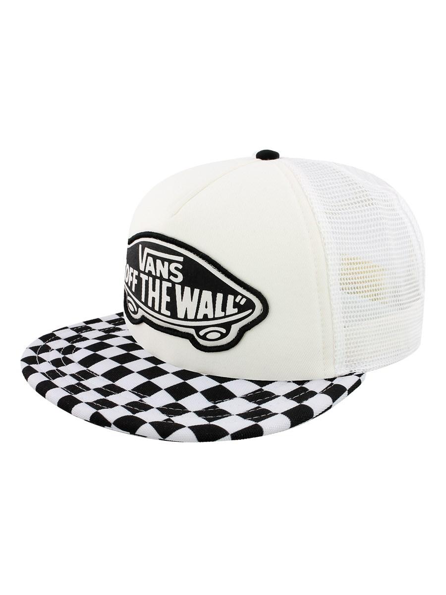 9d76634b820 Vans Beach Girl Trucker Cap - Black   White Checkerboard - Buy ...