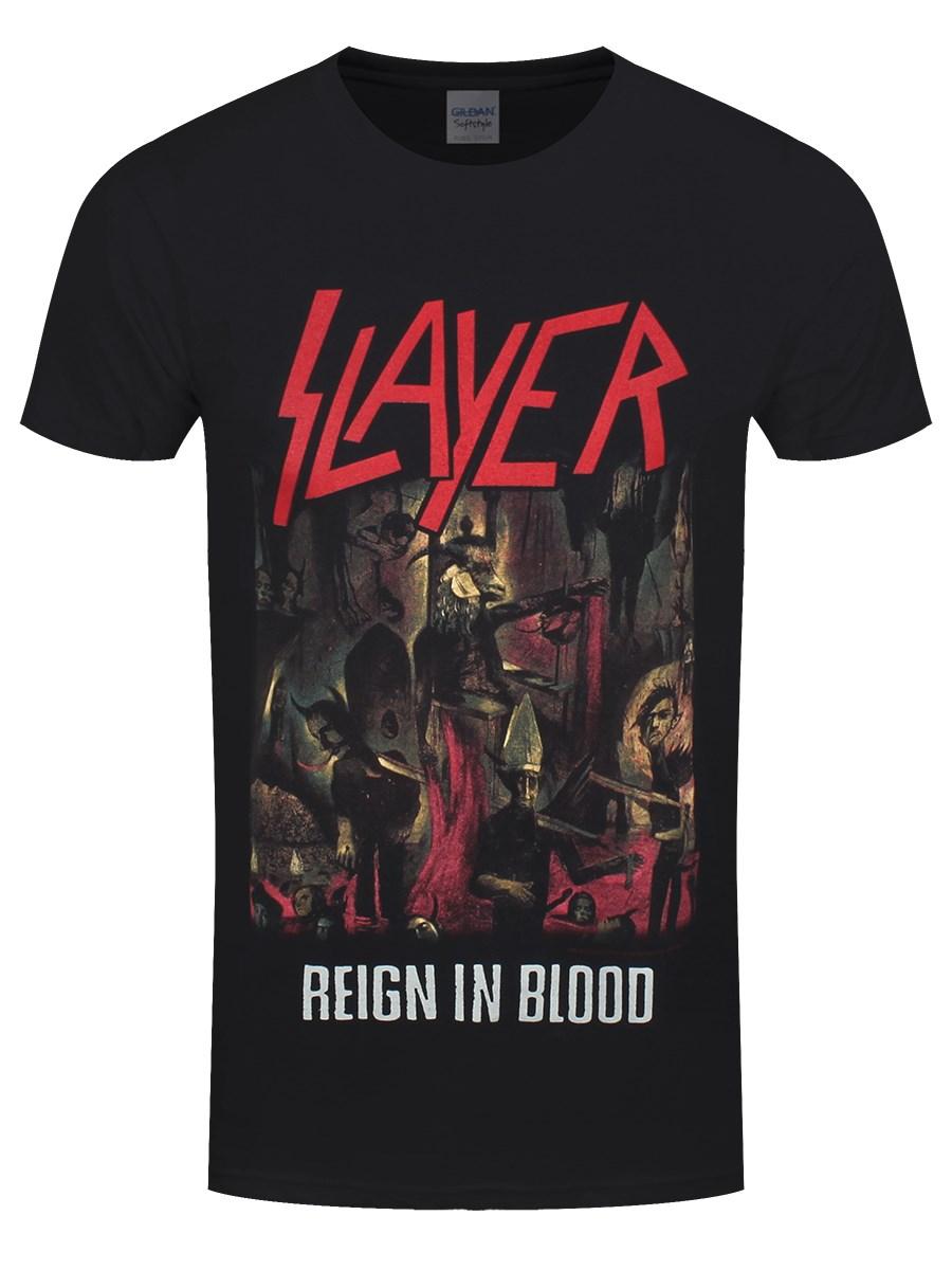 210f3c2f Slayer Reign in Blood Men's Black T-Shirt - Buy Online at Grindstore.com