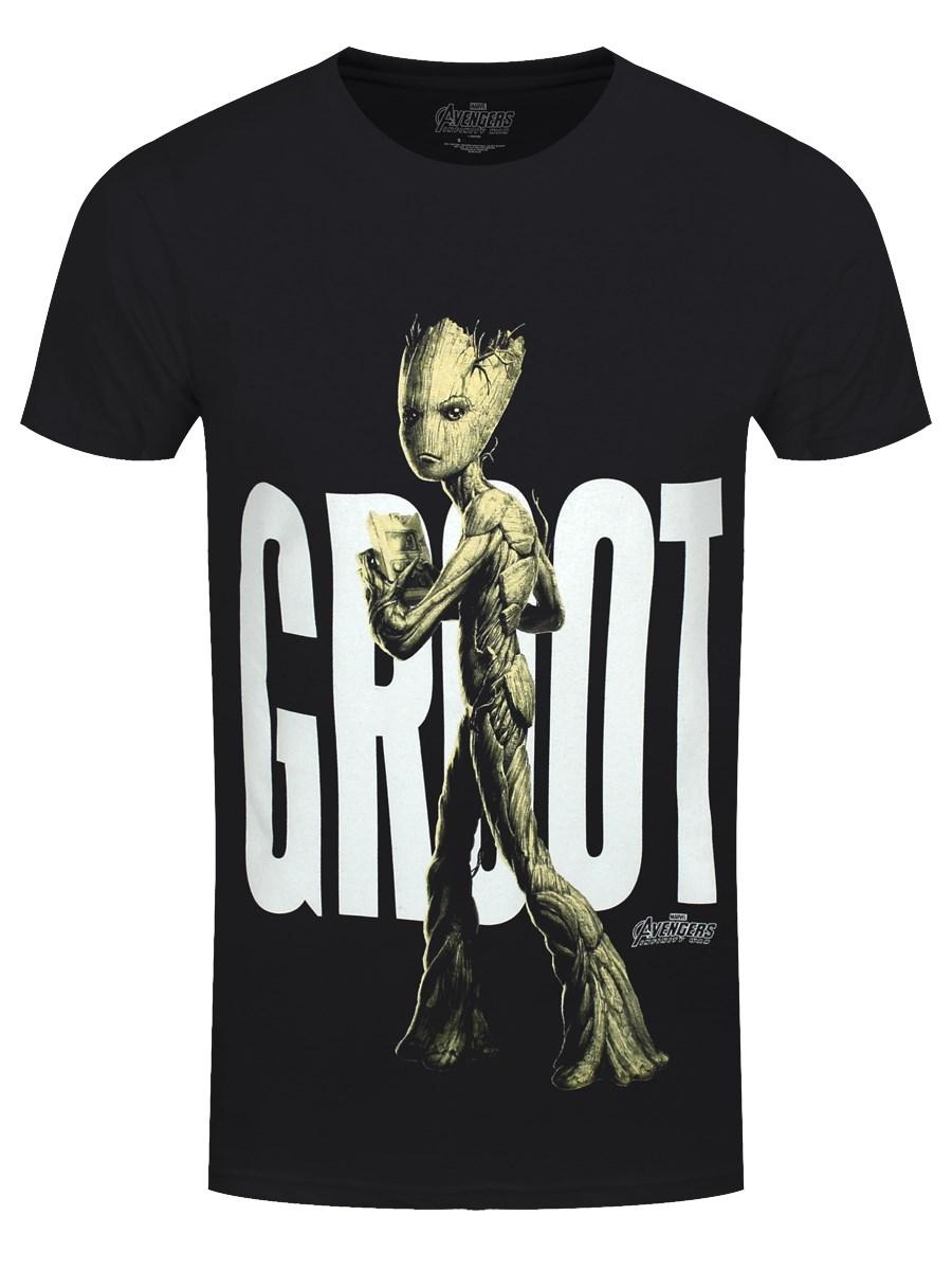 a2a555b6c Avengers Infinity War Teen Groot Men's Black T-Shirt - Buy Online at ...