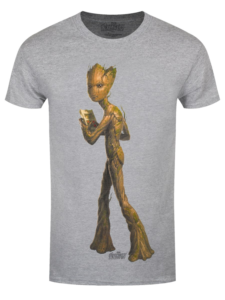 bc5a884f0 Avengers Infinity War Teen Groot Men's Grey T-Shirt - Buy Online at ...