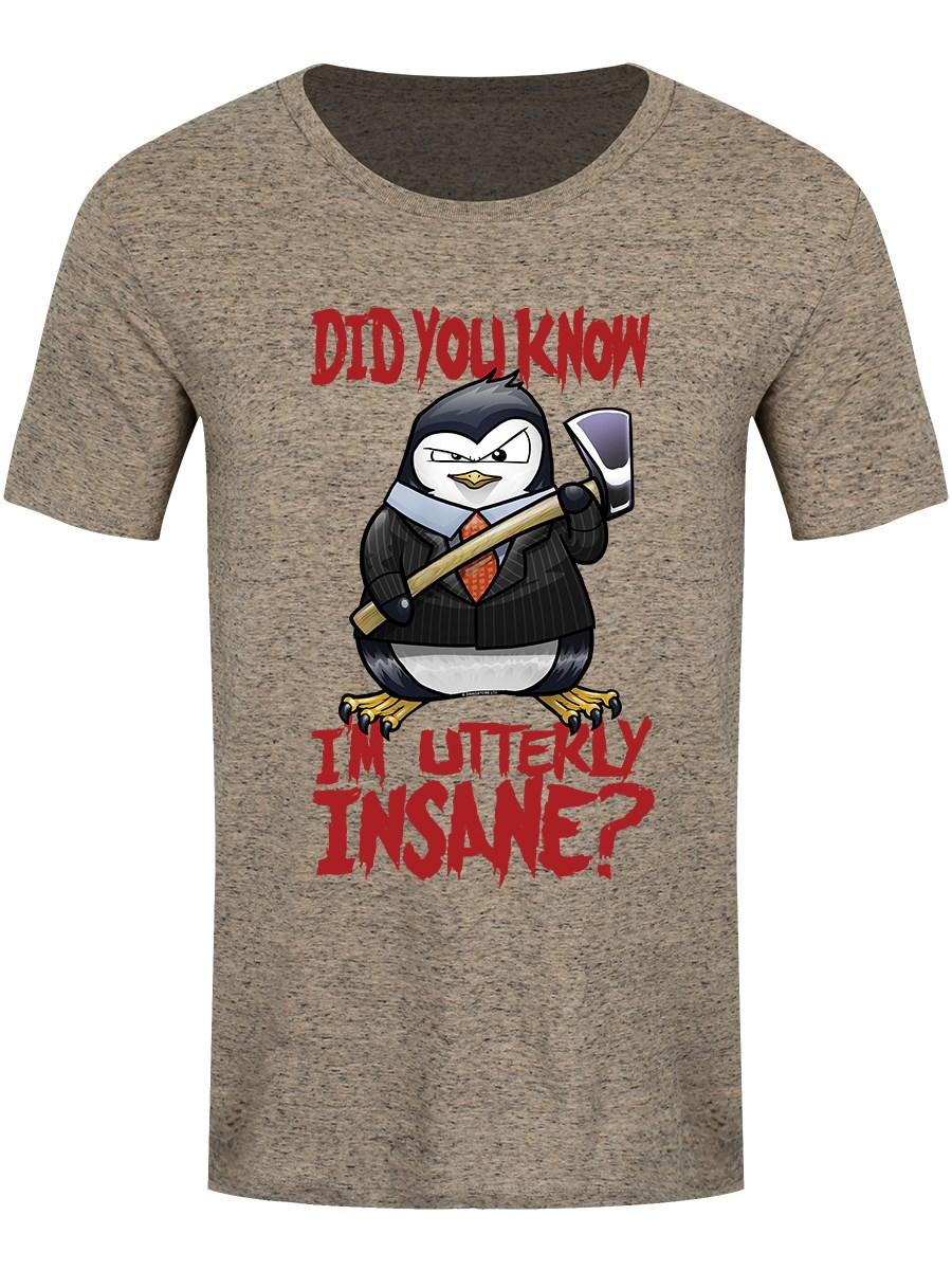 530e99c8 Psycho Penguin I'm Utterly Insane Men's Heather Stone T-Shirt - Buy ...