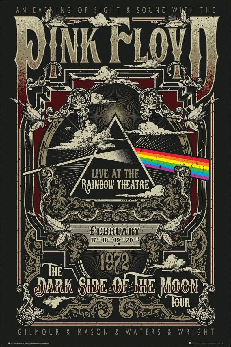 pink floyd rainbow theatre poster buy online at