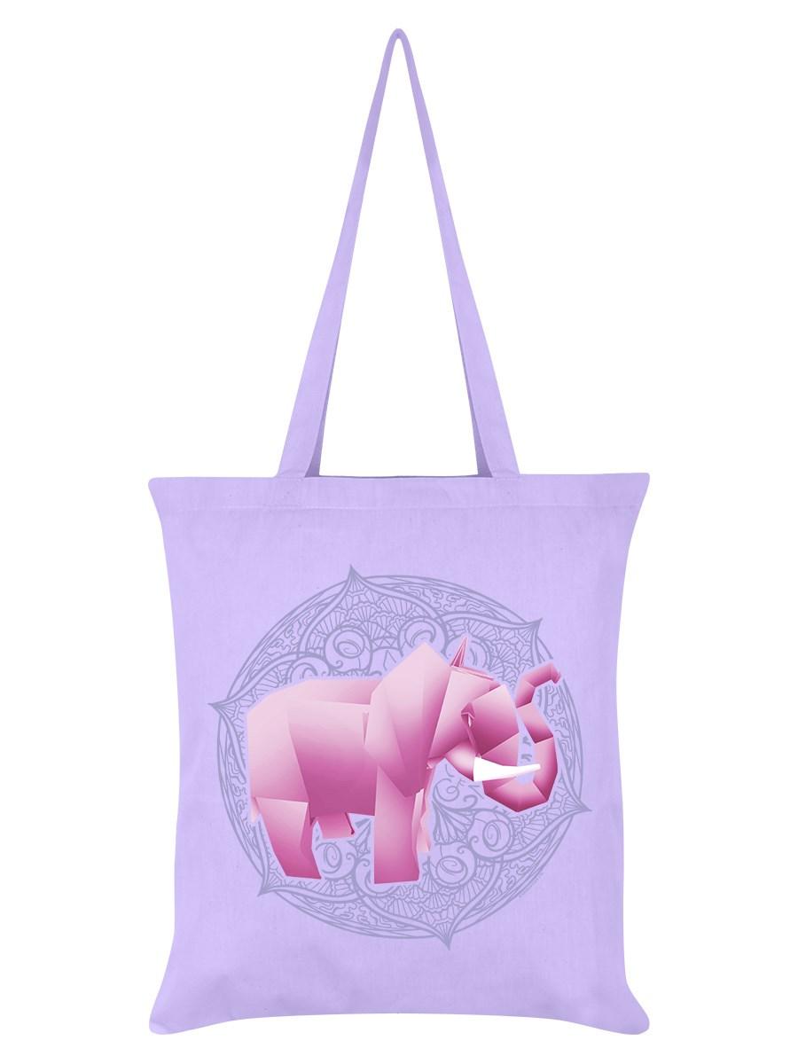 61c6313e8a3 Unorthodox Collective Tusker Mandala Lilac Tote Bag - Buy Online at ...
