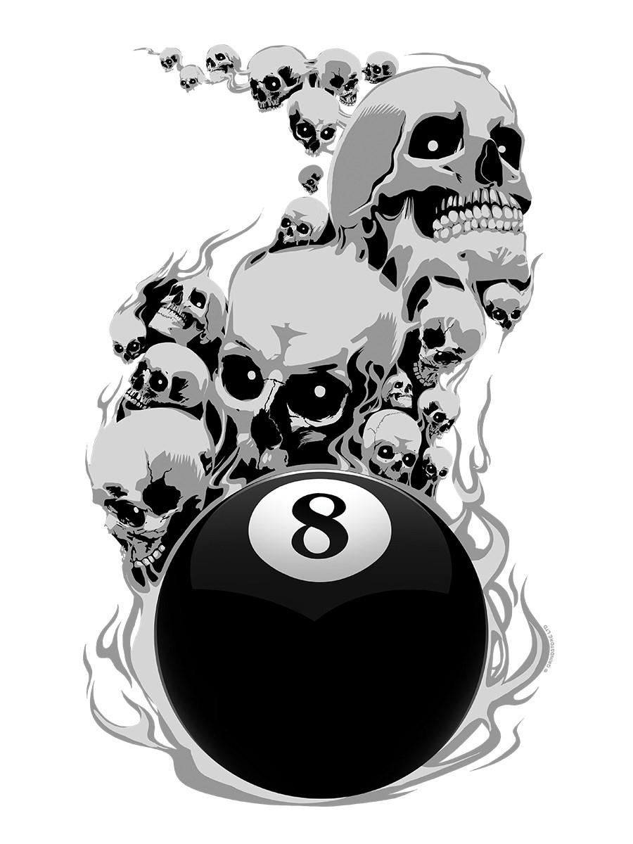 Vest Voodoo 8 Ball Ringer Men/'s White