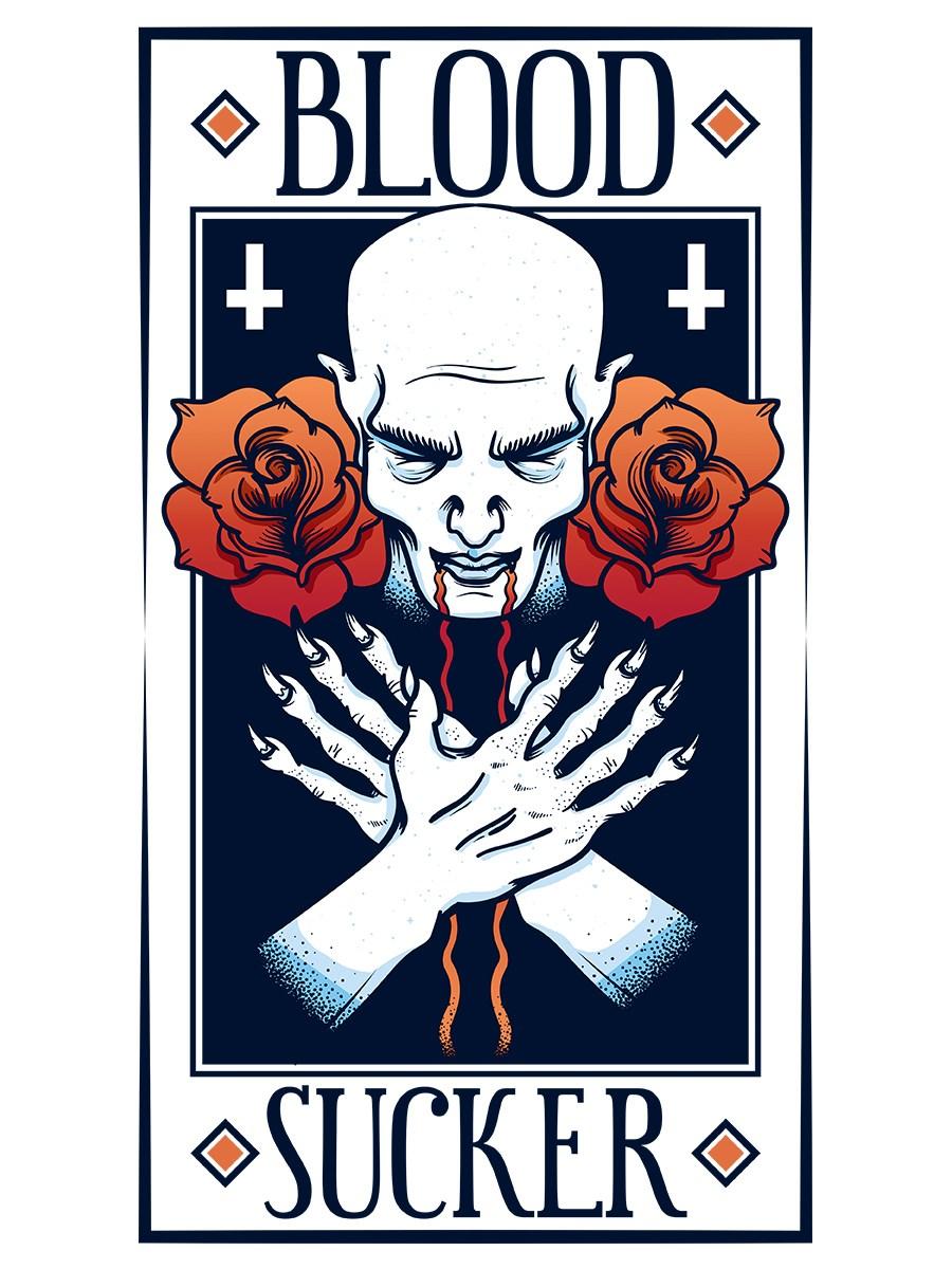 Grindstore Mens Blood Sucker Vest White