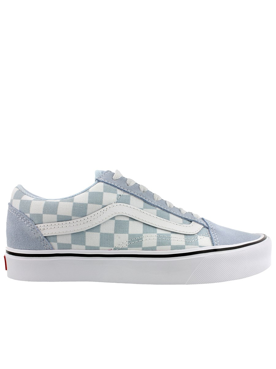 Vans Ladies Old Skool Lite Sneakers - Baby Blue Canvas   Suede - Buy ... ac8d4adbf