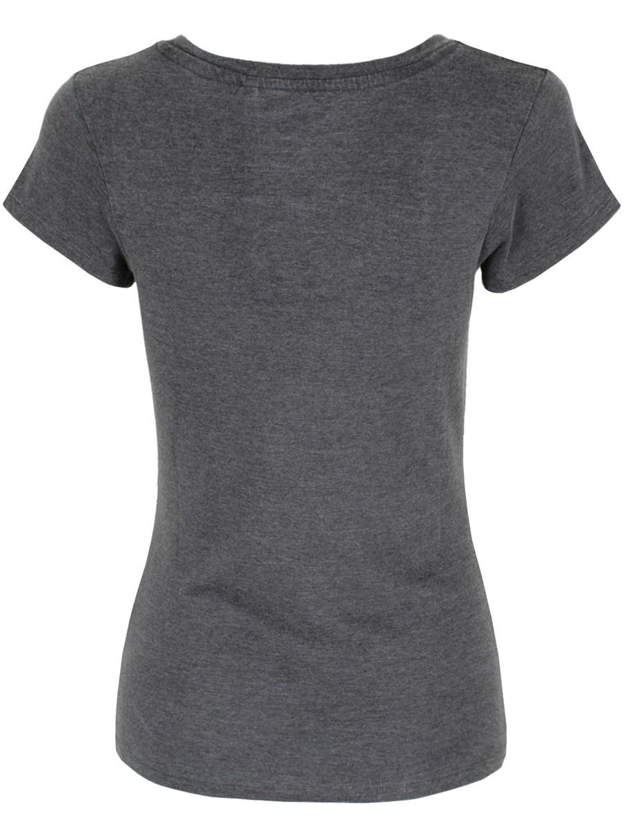 04e537d3 Jurassic Park Camo Logo Ladies V-Neck T-Shirt - Buy Online at ...