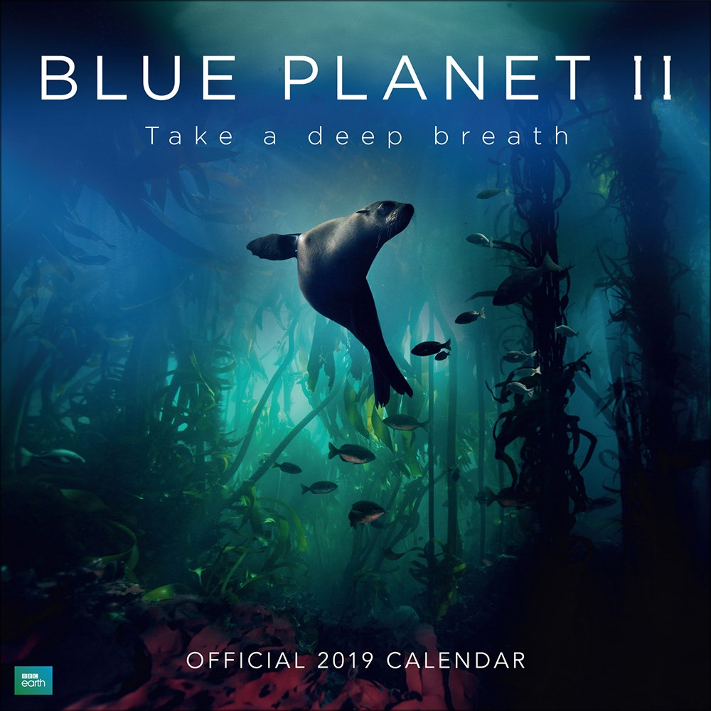 BBC Blue Planet 2019 Official Square Wall Calendar