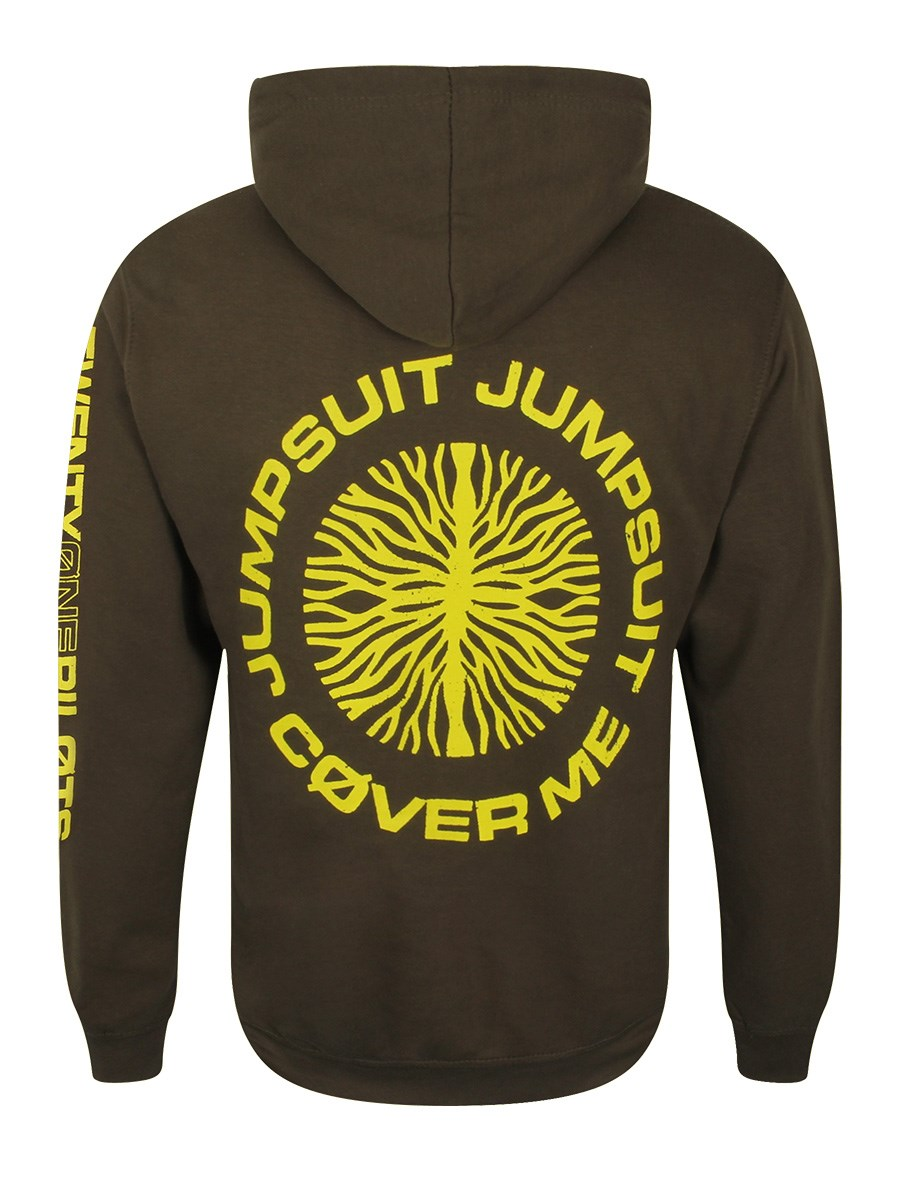 7075efbcc Twenty One Pilots Jumpseal Men's Olive Green Pullover Hoodie - Buy ...