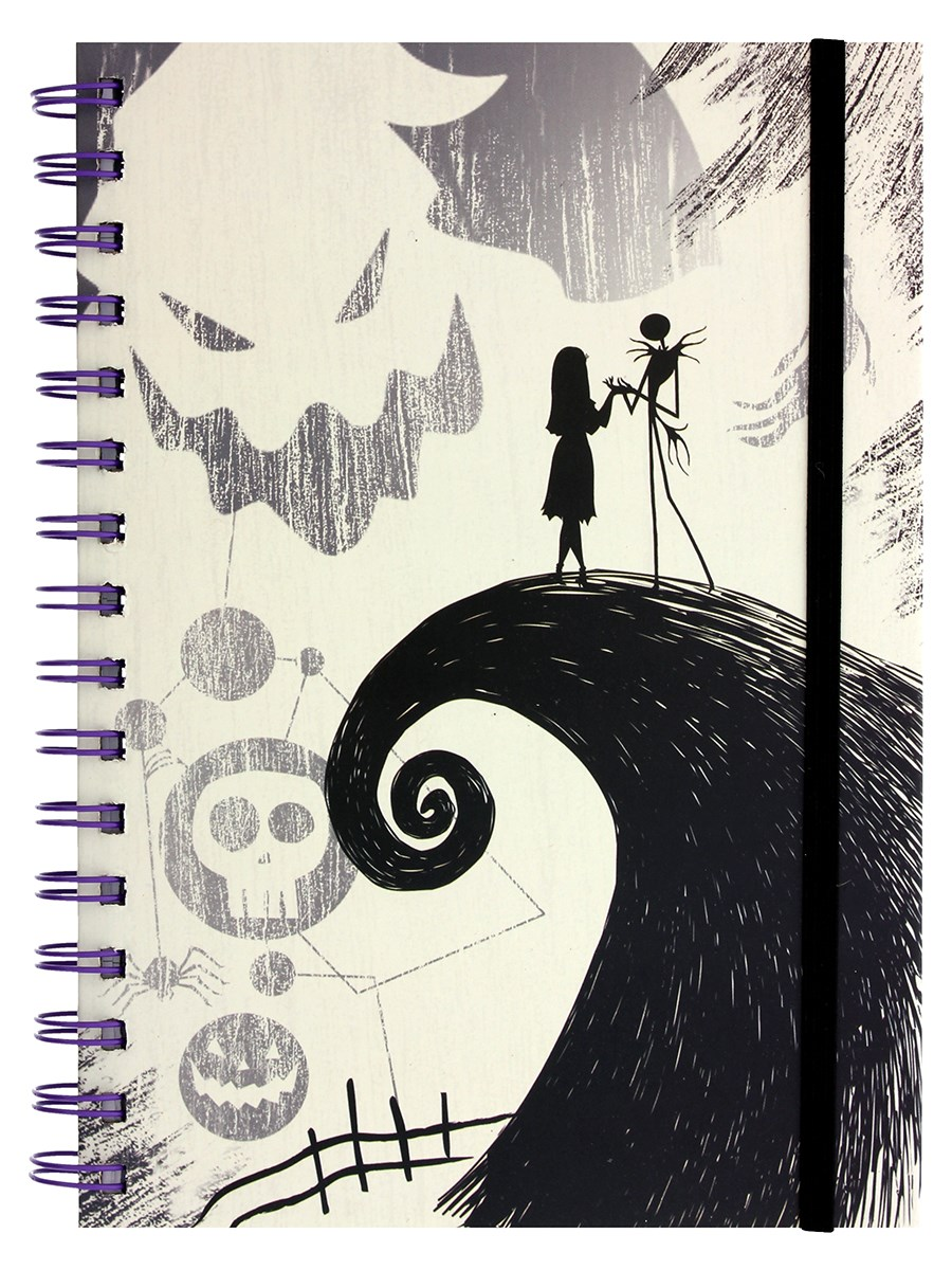 Nightmare Before Christmas Spiral Hill A5 Notebook - Buy Online at ...