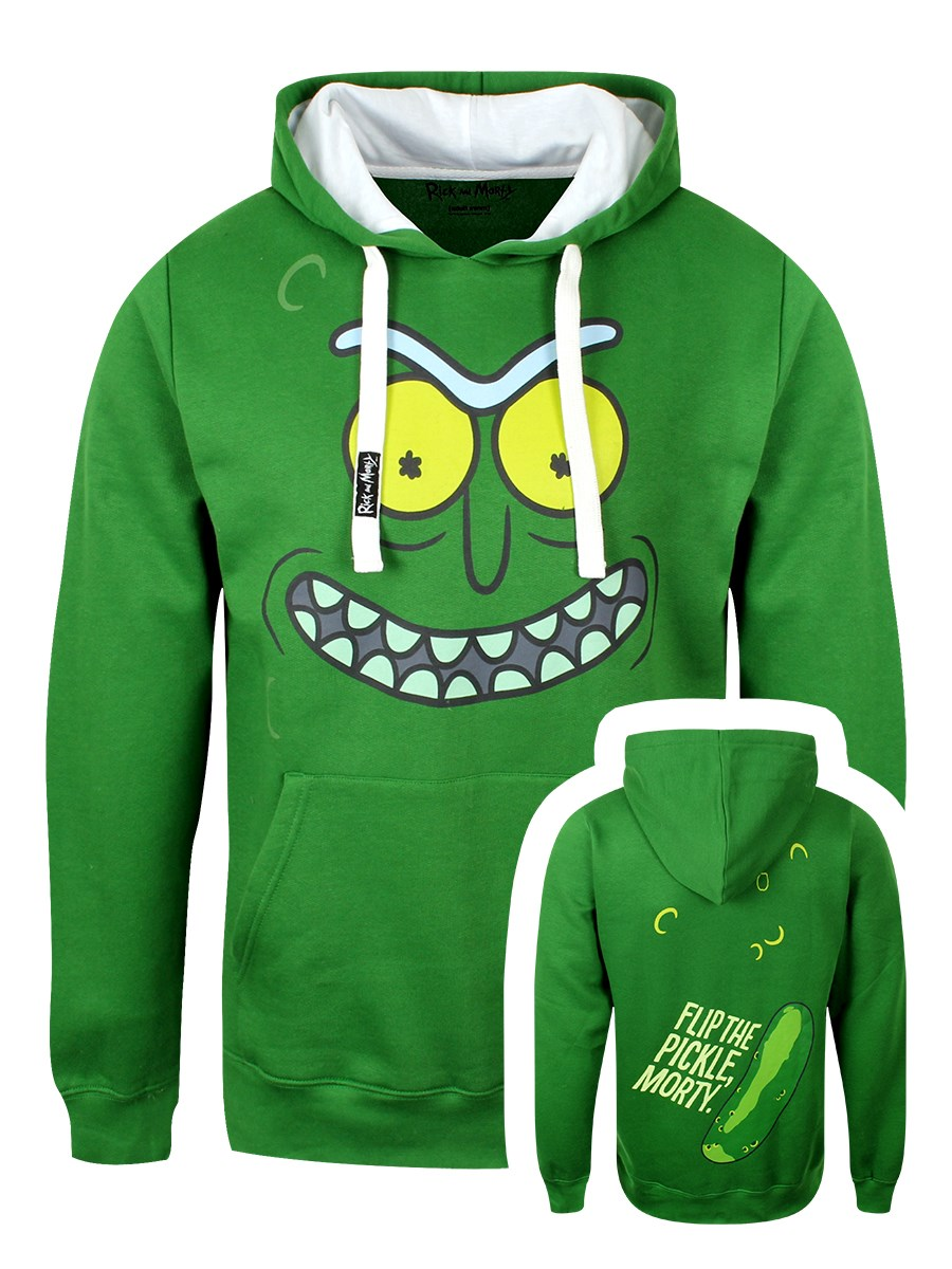 0d6de1ed7ac Rick   Morty Flip The Pickle Men s Green Hoodie - Buy Online at ...