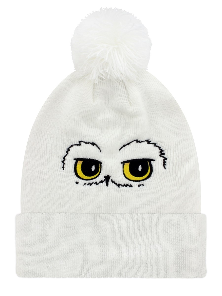 Harry Potter Hedwig Eyes Pompom White Beanie - Buy Online at ... 6ce1a1cf122