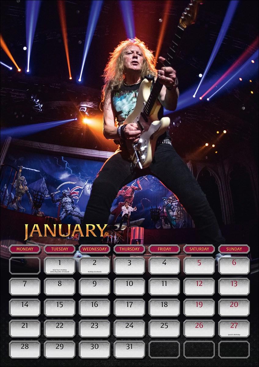 e6c306c1d462a1 Iron Maiden 2019 Official A3 Wall Calendar - Buy Online at ...