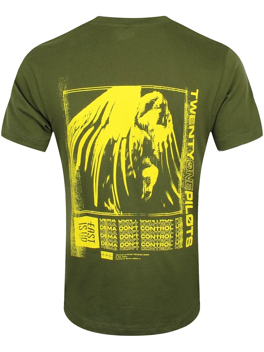3a61cd5d Twenty One Pilots Vulture Box Men's Forest Green T-Shirt - Buy ...