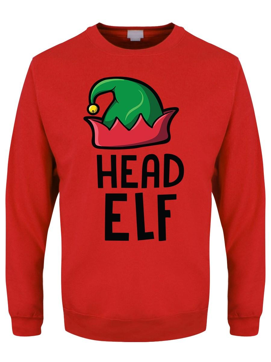 db7a6408 Head Elf Men's Red Christmas Jumper - Buy Online at Grindstore.com