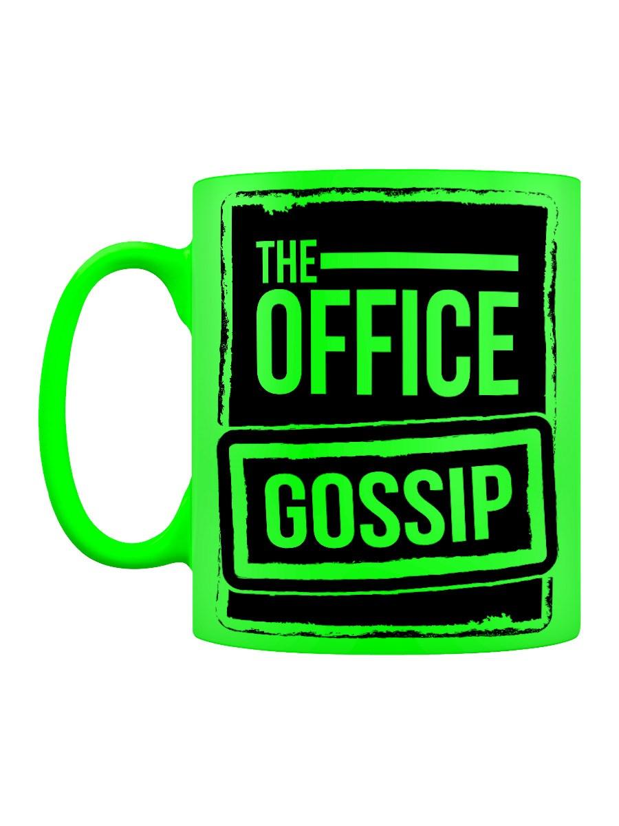 The Office Gossip Green Neon Mug