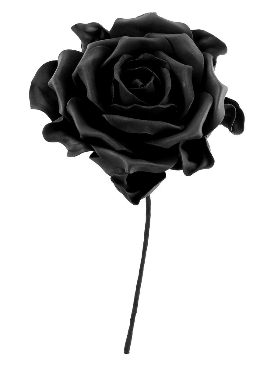 Alchemy Single Black Rose With Stem - Buy Online at