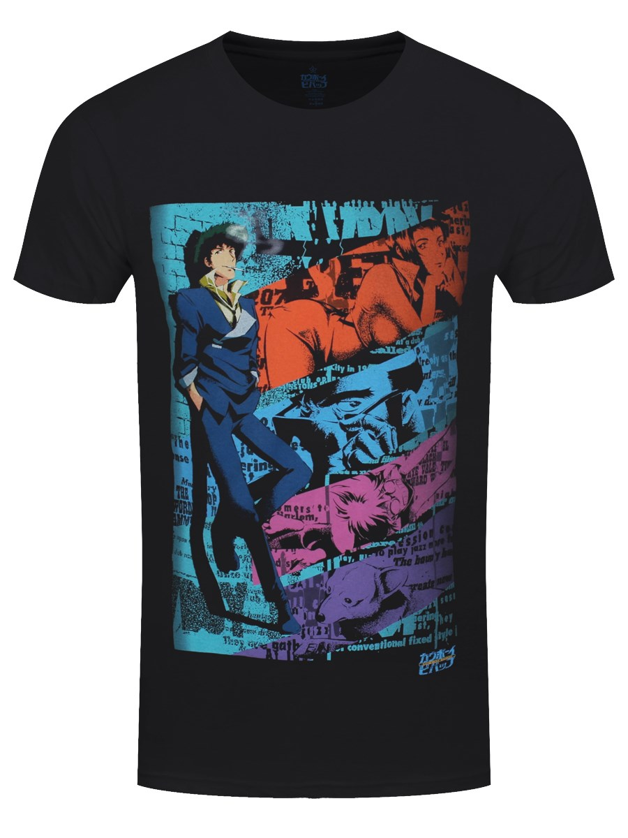 T Cowboy Bebop Black Men's Spike Shirt 3L54jRAq