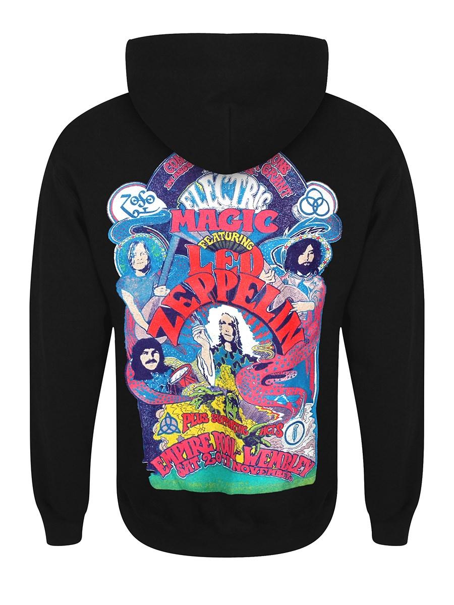 Led Zeppelin Electric Magic Men S Black Zipped Hoodie Buy Online At Grindstore Com