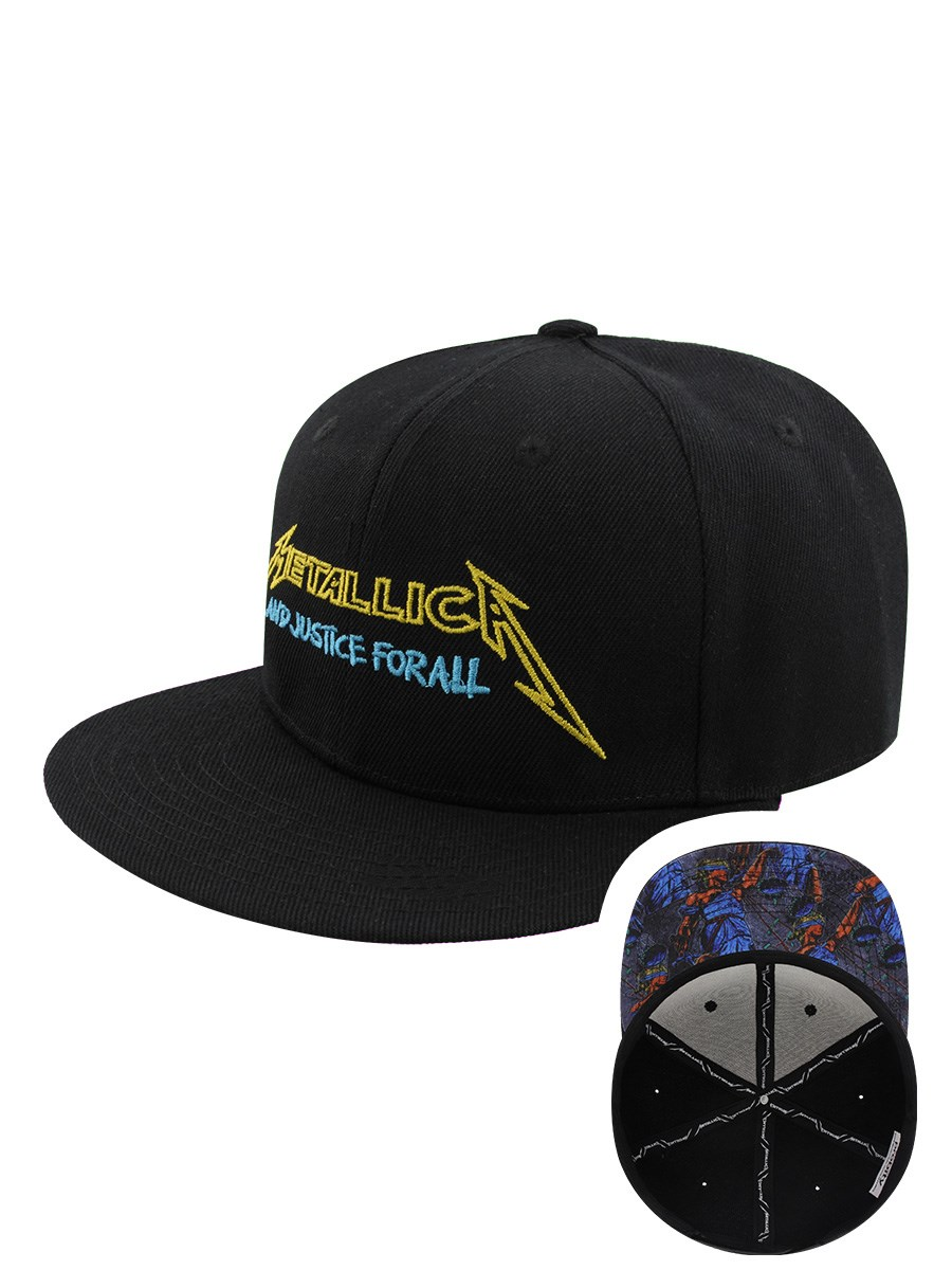 c553abba8df Metallica Justice Bright Starter Black Snapback Cap - Buy Online at ...