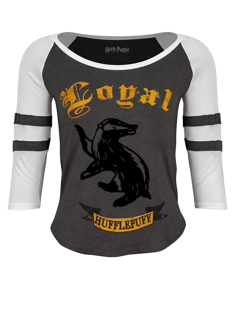 95002700b Harry Potter Loyal Hufflepuff Ladies Raglan T-Shirt - Buy Online at ...