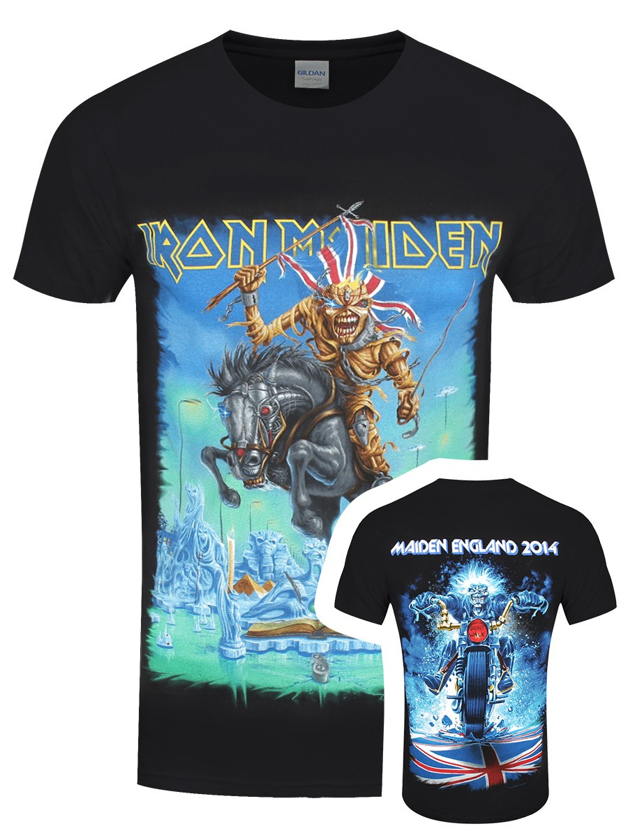 b8da6277 Iron Maiden Tour Trooper Men's Black Front And Back Print T-Shirt ...