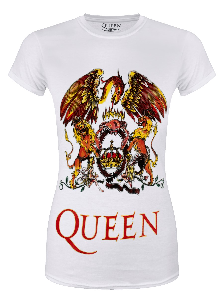 ae285bfd Queen Classic Crest ladies White T-Shirt - Buy Online at Grindstore.com