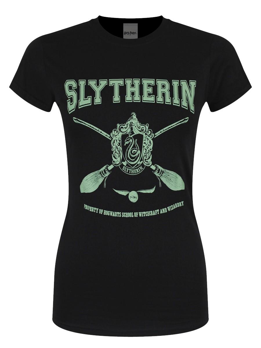 fe836e85 Harry Potter Collegiate Slytherin Ladies Black T-Shirt - Buy Online ...