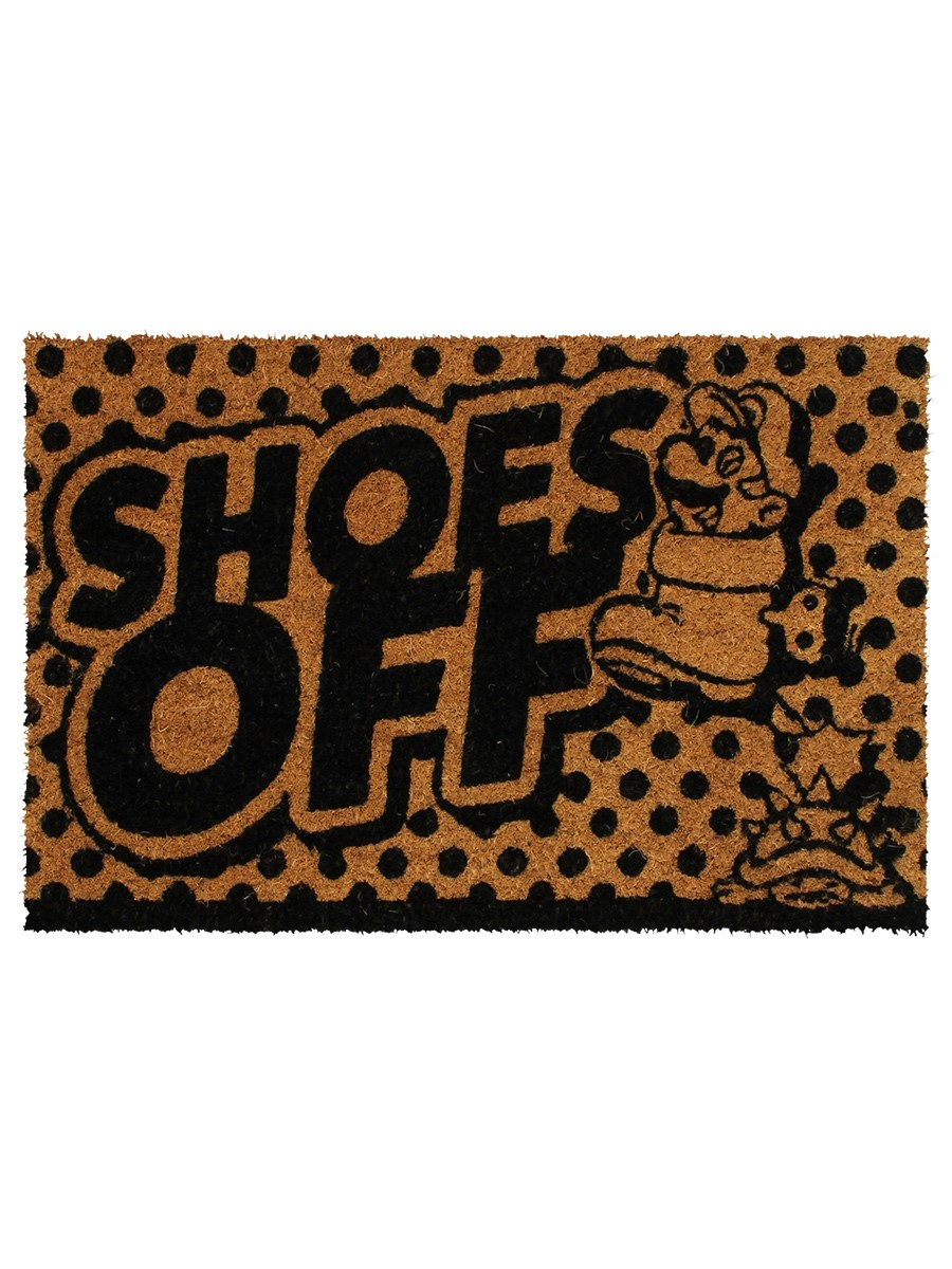 Super Mario Shoes Off Black Doormat Buy Online At Grindstore Com