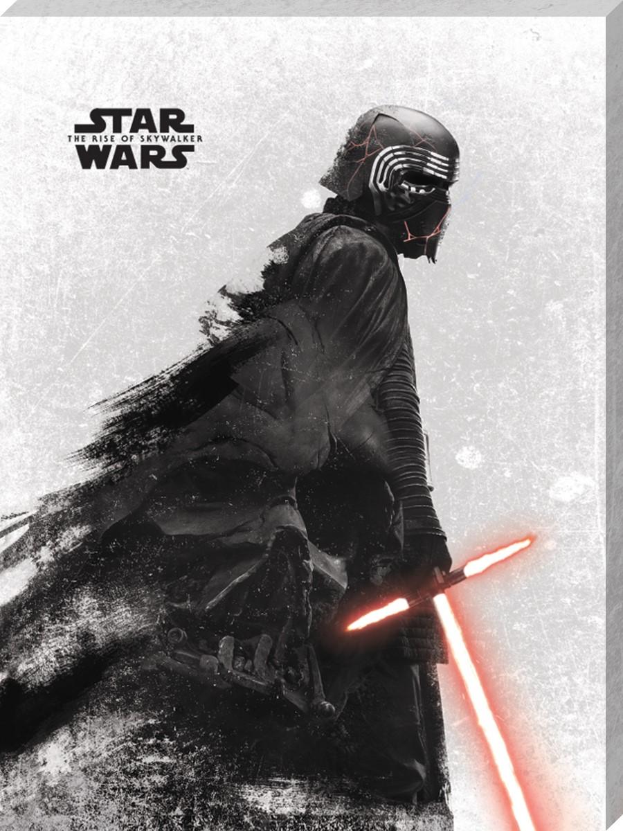 Star Wars The Rise Of Skywalker Kylo Ren And Vader Canvas Print Buy Online At Grindstore Com